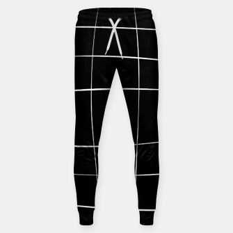 Miniaturka Abstract pattern - black and white. Cotton sweatpants, Live Heroes