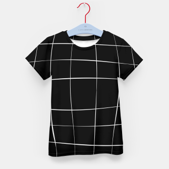 Thumbnail image of Abstract pattern - black and white. Kid's t-shirt, Live Heroes