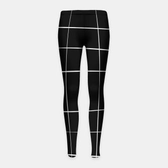 Miniature de image de Abstract pattern - black and white. Girl's leggings, Live Heroes