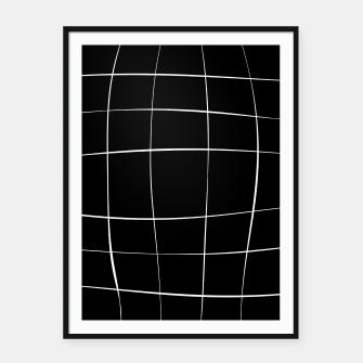 Imagen en miniatura de Abstract pattern - black and white. Framed poster, Live Heroes