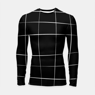 Imagen en miniatura de Abstract pattern - black and white. Longsleeve rashguard , Live Heroes