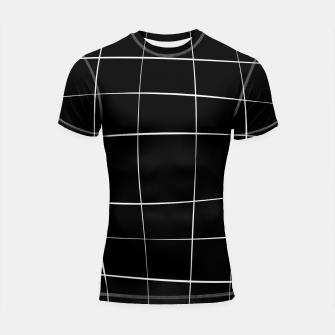 Imagen en miniatura de Abstract pattern - black and white. Shortsleeve rashguard, Live Heroes