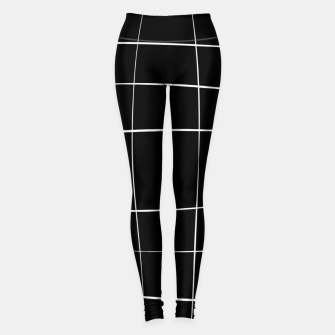 Imagen en miniatura de Abstract pattern - black and white. Leggings, Live Heroes