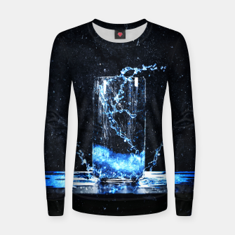 Thumbnail image of Blue Energy Drink Frauen baumwoll sweatshirt, Live Heroes