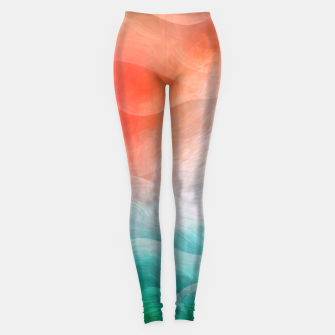 "Miniaturka ""Coral sand beach and tropical turquoise sea"" Leggings, Live Heroes"