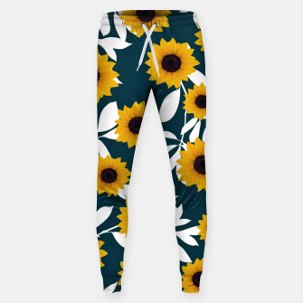 Thumbnail image of Sunflower pattern Cotton sweatpants, Live Heroes