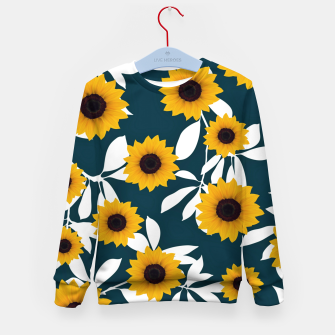 Thumbnail image of Sunflower pattern Kid's sweater, Live Heroes