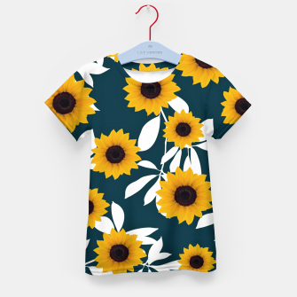 Thumbnail image of Sunflower pattern Kid's t-shirt, Live Heroes