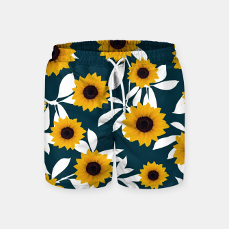 Thumbnail image of Sunflower pattern Swim Shorts, Live Heroes