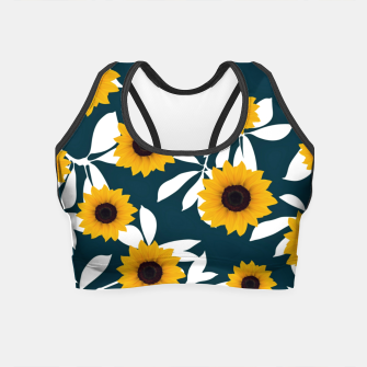 Thumbnail image of Sunflower pattern Crop Top, Live Heroes