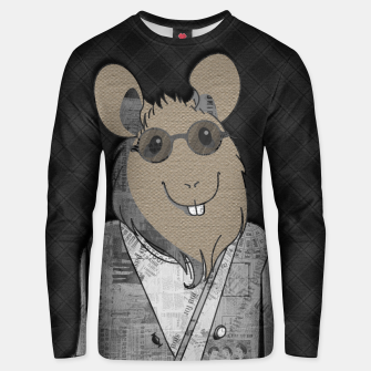 Miniaturka Hipster Mouse  mixed media digital art collage  Cotton sweater, Live Heroes