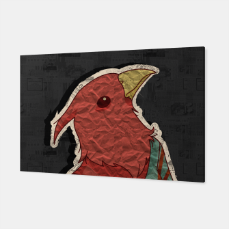Thumbnail image of Hipster bird  mixed media digital art collage  Canvas, Live Heroes