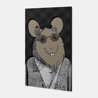 Thumbnail image of Hipster Mouse  mixed media digital art collage  Canvas, Live Heroes