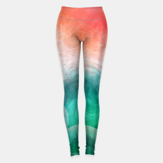 "Imagen en miniatura de ""Coral sand beach and tropical turquoise sea"" Leggings, Live Heroes"
