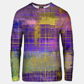 Miniaturka Abstract Watercolor Paint and Gold texture - Digital art Cotton sweater, Live Heroes