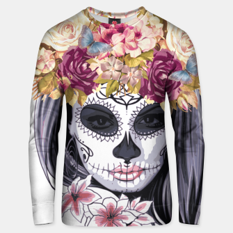 Thumbnail image of Flower Head Skull Cotton sweater, Live Heroes