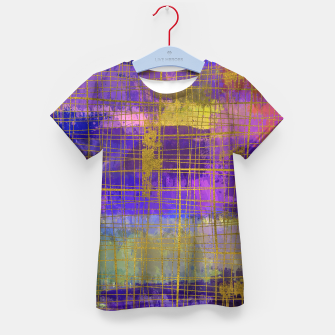 Thumbnail image of Abstract Watercolor Paint and Gold texture - Digital art Kid's t-shirt, Live Heroes