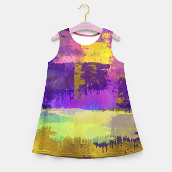 Miniature de image de Abstract Watercolor Paint and Gold texture - Digital art Girl's summer dress, Live Heroes