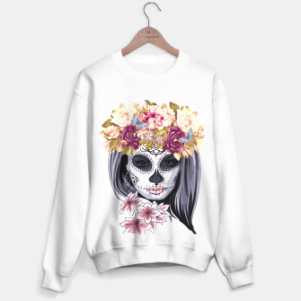 Thumbnail image of Flower Head Skull Sweater regular, Live Heroes