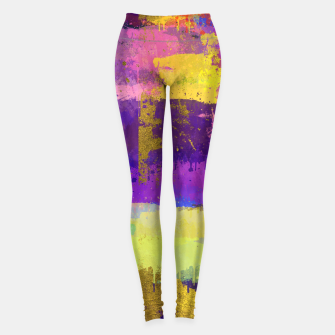 Thumbnail image of Abstract Watercolor Paint and Gold texture - Digital art Leggings, Live Heroes