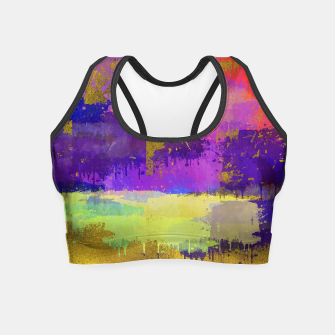 Thumbnail image of Abstract Watercolor Paint and Gold texture - Digital art Crop Top, Live Heroes