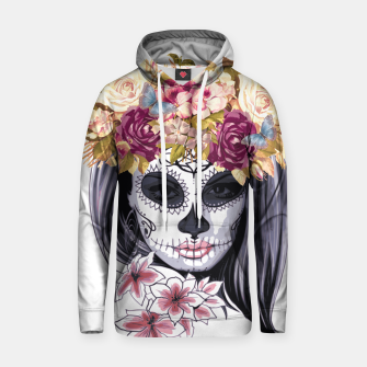 Thumbnail image of Flower Head Skull Cotton hoodie, Live Heroes