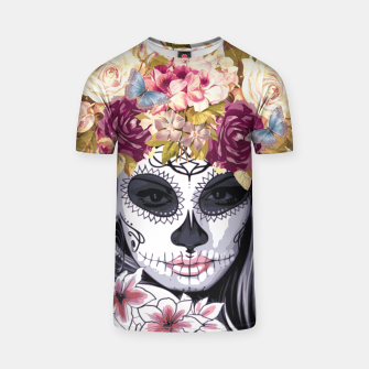 Thumbnail image of Flower Head Skull T-shirt, Live Heroes