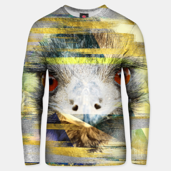 Miniaturka Abstract Art Collage Ostrich Cotton sweater, Live Heroes