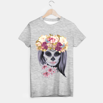 Thumbnail image of Flower Head Skull T-shirt regular, Live Heroes