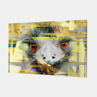 Thumbnail image of Abstract Art Collage Ostrich Canvas, Live Heroes