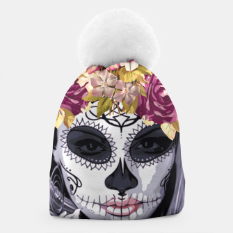Thumbnail image of Flower Head Skull Beanie, Live Heroes