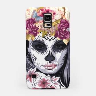 Thumbnail image of Flower Head Skull Samsung Case, Live Heroes