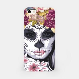Thumbnail image of Flower Head Skull iPhone Case, Live Heroes