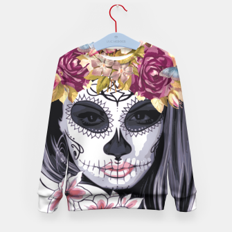 Thumbnail image of Flower Head Skull Kid's sweater, Live Heroes