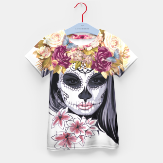 Thumbnail image of Flower Head Skull Kid's t-shirt, Live Heroes