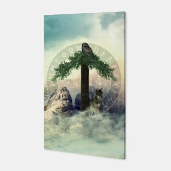 Thumbnail image of Tiwas Rune  Digital Art Collage Canvas, Live Heroes