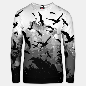 Miniaturka Abstract Black and White birds collage Cotton sweater, Live Heroes