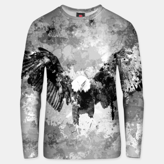 Miniaturka Abstract Black and White Eagle collage Cotton sweater, Live Heroes