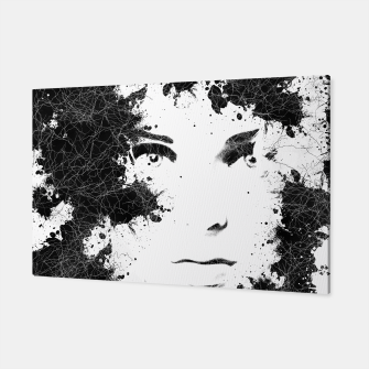Thumbnail image of Abstract Black and White Composition Canvas, Live Heroes