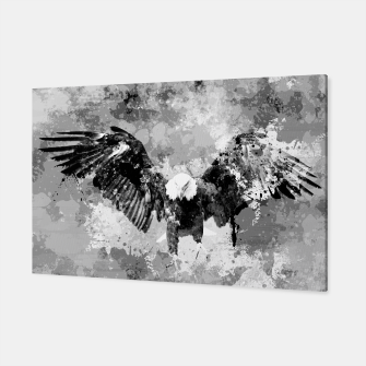 Thumbnail image of Abstract Black and White Eagle collage Canvas, Live Heroes