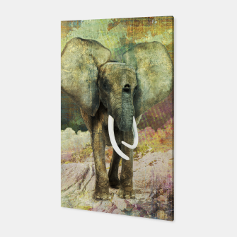 Thumbnail image of Abstract Grunge Elephant Digital art Canvas, Live Heroes
