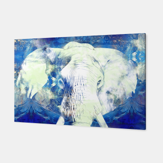 Thumbnail image of Blue marble water White Elephant Digital art Canvas, Live Heroes