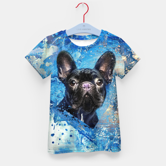 Thumbnail image of French Bulldog -Frenchie Dog Kid's t-shirt, Live Heroes