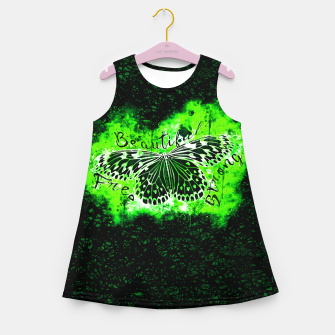 Miniature de image de gxp butterfly beautiful strong free splatter watercolor green negative schmetterling gruen Mädchen-Sommerkleid, Live Heroes