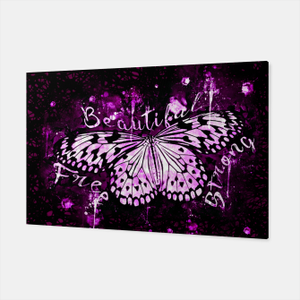 Thumbnail image of gxp butterfly beautiful strong free splatter watercolor purple pink sepia schmetterling lila pink Canvas, Live Heroes