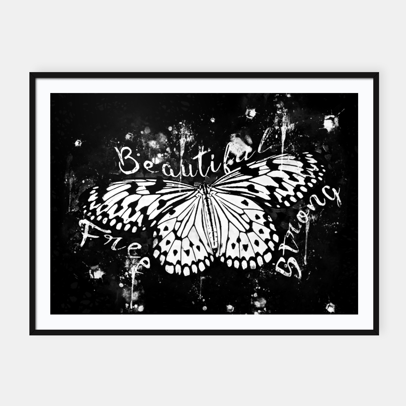 gxp butterfly beautiful strong free splatter watercolor white sepia ...
