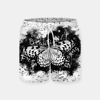 Thumbnail image of gxp butterfly beautiful strong free splatter watercolor white schmetterling weiß Badeshorts, Live Heroes