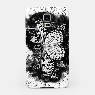 Thumbnail image of gxp butterfly beautiful strong free splatter watercolor white schmetterling weiß Handyhülle für Samsung, Live Heroes