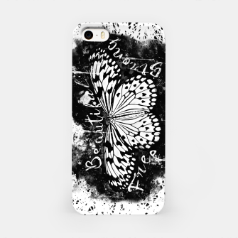 Thumbnail image of gxp butterfly beautiful strong free splatter watercolor white schmetterling weiß iPhone-Hülle, Live Heroes
