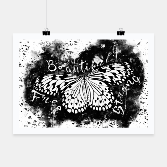 Thumbnail image of gxp butterfly beautiful strong free splatter watercolor white schmetterling weiß Plakat, Live Heroes